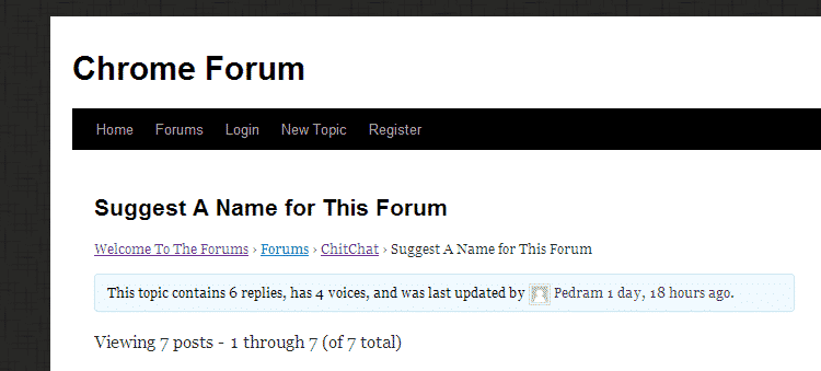 chrome news  Can You Suggest a Name for ChromeStorys New Forum?