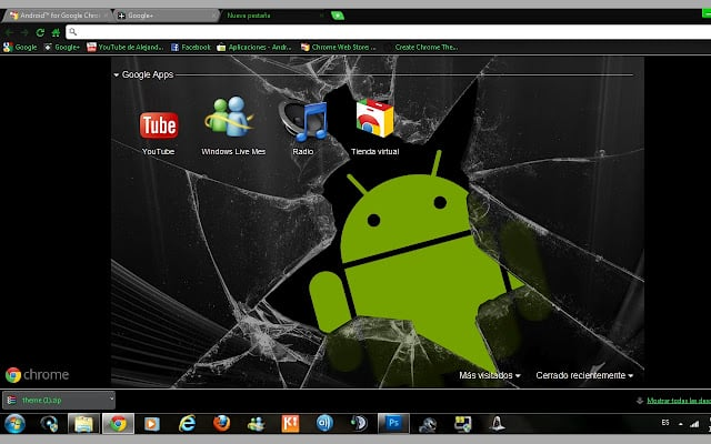 themes  Dark Android™ Theme for Google Chrome