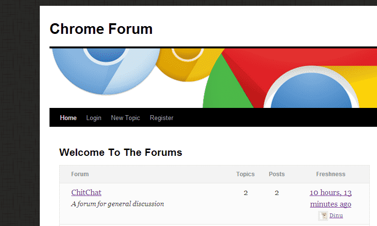 chrome news  I Have Added A New Forum Here, Can You Help Me Test It?