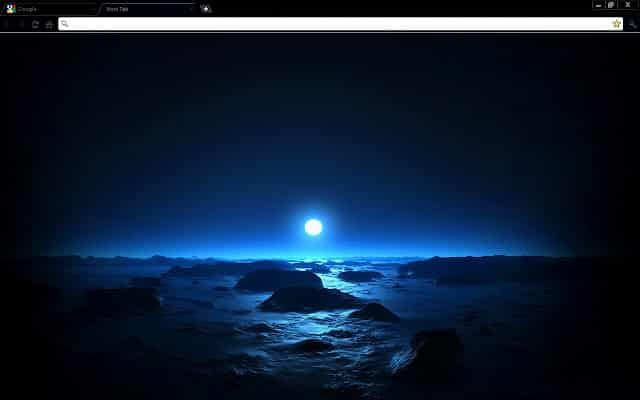 themes  Blue Space Sunset Chrome Theme
