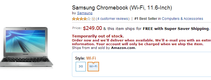 chromebook  Fortune Magazine Names the New Samsung Chromebook Best Device of 2012