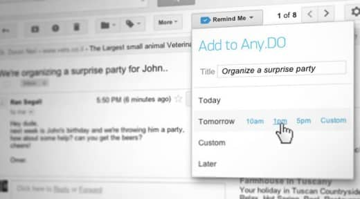 chrome extensions  Any.DO's Chrome app now lets you create to do lists directly from Gmail