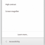 Accessibility Options on Chromebooks