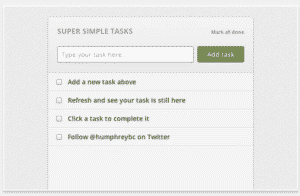 chrome extensions  Super Simple Tasks App for Chrome
