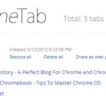 OneTab Saves Memory By Reducing Opens Tabs In To A List Temporarily