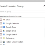 SimpleExtManager Allows You To Create Extensions Groups To Manage Them Easily