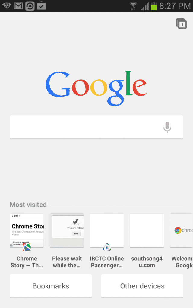 android  New Tab Page on Chrome for Android Gets A New Design, Complete with Google Search