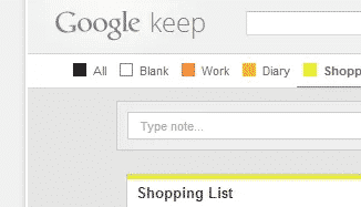 chrome extensions  Category Tabs for Google Keep™ Helps You Sort Notes By Category