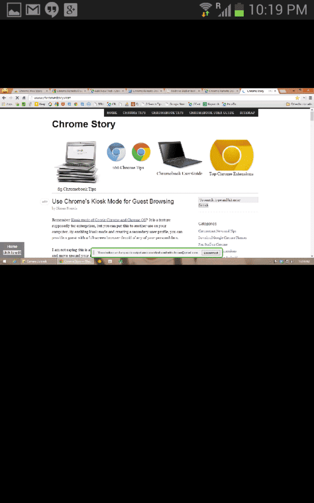 android  First Look   Official Chromoting (Chrome Remote Desktop) App for Android