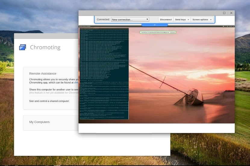 chromebook  Chromoting to Support Multiple Remote Desktop Sessions