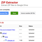[App] Zip Extractor for Chrome Extracts Files in Google Drive