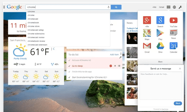 how to change new tap adress in chrome