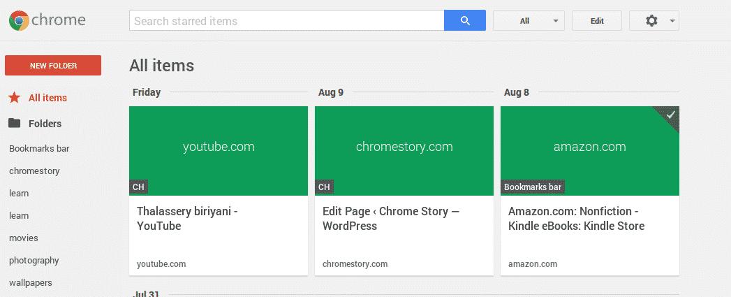 Meet Google Stars Aka Chrome Bookmarks 2 0 Chrome Story