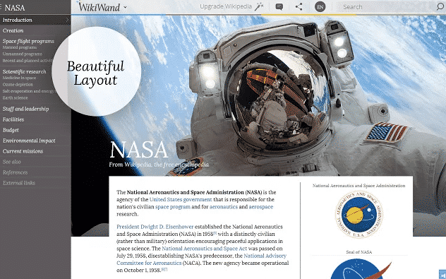 chrome extensions  WikiWand Makes Wikipedia Beautiful on Chrome