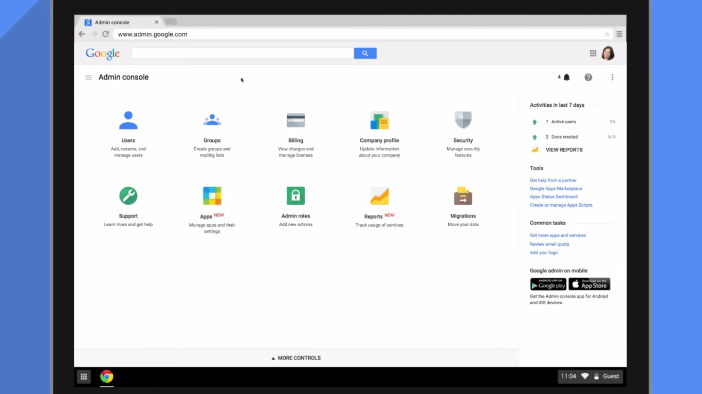 Google admin console gets material design makeover for Google console