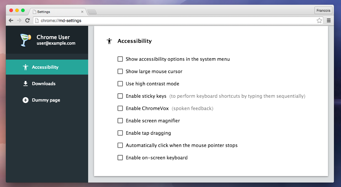 Meet The Google Chrome Settings Page In Material Design