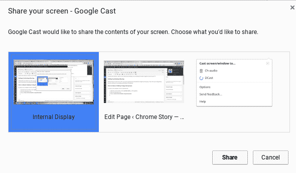 Cast Desktop to Chromecast - Chrome Story