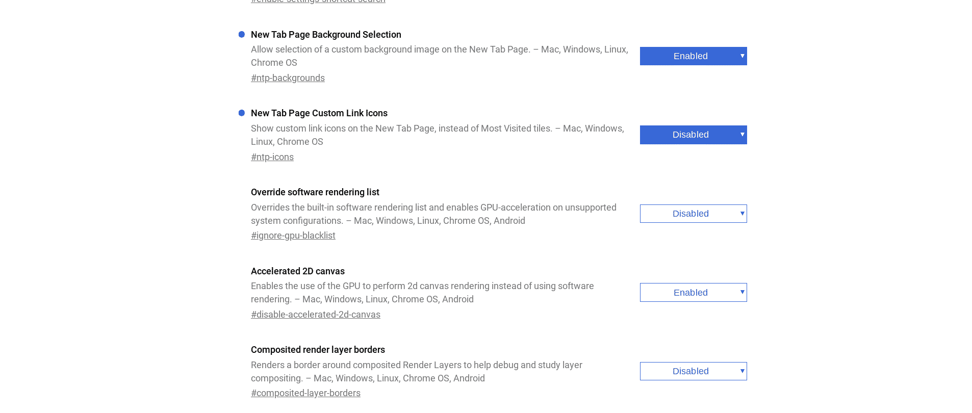 how to set chrome new tab page