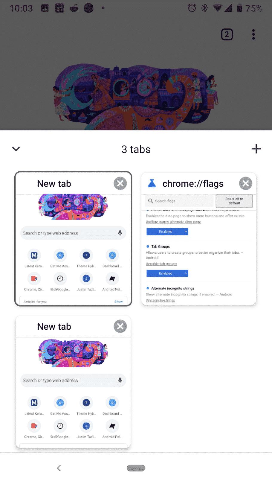 Android Chrome Tabs Anzeigen