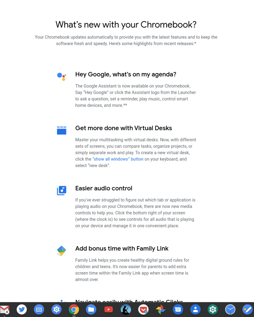 First Look at Chrome OS Release Notes (It's a Web Page) - Chrome Story